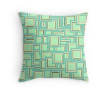 Crazy Squares Throw Pillow