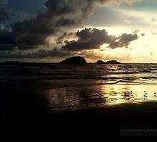 golden sunset by Ayreej Rahiman