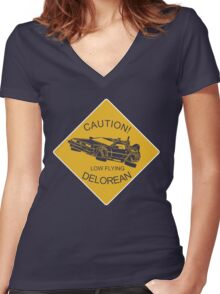 Low Flying Women's Fitted V-Neck T-Shirt