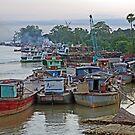 Irrawaddy River at Mandalay,  Burma by John Mitchell
