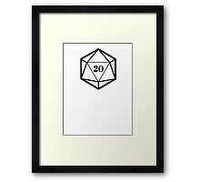 20 Dice Framed Print