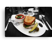 Butty and Soup Canvas Print