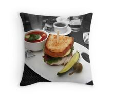 Butty and Soup Throw Pillow