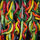 plastic chillies by richard  webb