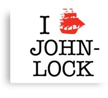 I Ship Johnlock Canvas Print