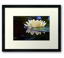 A Light On The Water Framed Print