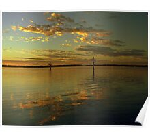 Sunrise reflexion Poster