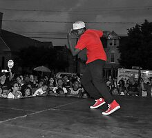 Color Splash Breakdancer by JAGgedEdgePhoto