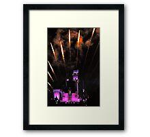 Fireworks over Disneyland Castle Framed Print