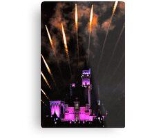 Fireworks over Disneyland Castle Metal Print