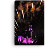 Fireworks over Disneyland Castle Canvas Print