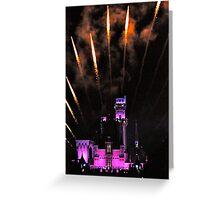 Fireworks over Disneyland Castle Greeting Card