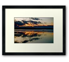 Fiery Reflections Framed Print
