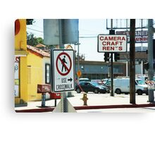 Crosswalk Hollywood CA Canvas Print