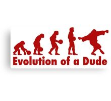 The Dude evolution red Canvas Print