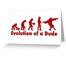 The Dude evolution red Greeting Card