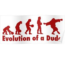 The Dude evolution red Poster