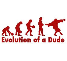 The Dude evolution red Photographic Print