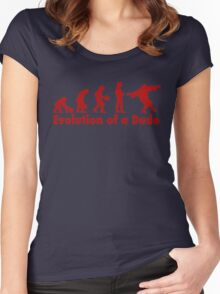 The Dude evolution red Women's Fitted Scoop T-Shirt