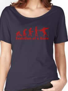 The Dude evolution red Women's Relaxed Fit T-Shirt