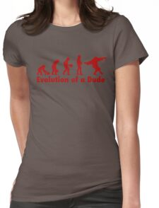The Dude evolution red Womens Fitted T-Shirt