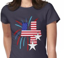 The Big 4 (4th of July tee) Womens Fitted T-Shirt