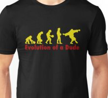 Evolution of a dude Yellow Unisex T-Shirt