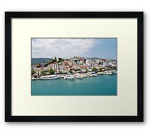 Skiathos Town harbour, Greece Framed Print