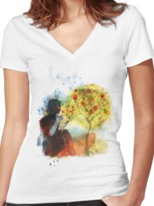 a whisper for mother nature Women's Fitted V-Neck T-Shirt