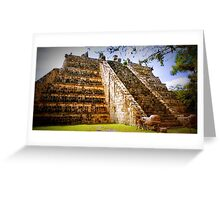 Mayan Pyramid Greeting Card
