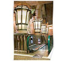 Escalators And Lamps Poster