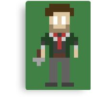 8-Bit Booker Dewitt Canvas Print