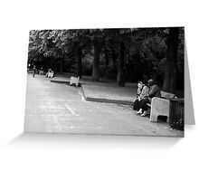 Bench moment Greeting Card