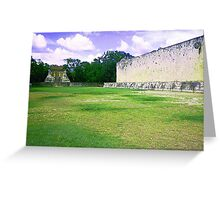 Let's go play some ball on the ballcourt Greeting Card