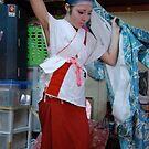 Kimono  Dressing  at Backstage, OSAKA  JAPAN by yoshiaki nagashima