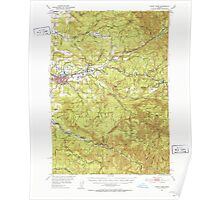 USGS Topo Map Oregon Sweet Home 282937 1951 62500 Poster