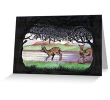 Out of the Forest II `Roe Deer in Morayshire Greeting Card