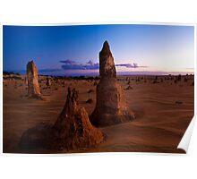 Nambung National Park Pinnacles Sunrise 1 Poster