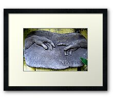 Helping Hand Framed Print
