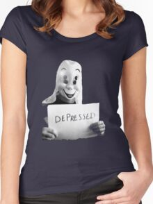 Depressed Smile Women's Fitted Scoop T-Shirt