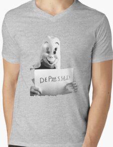 Depressed Smile Mens V-Neck T-Shirt
