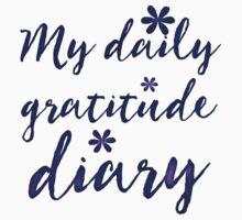 My daily Gratitude diary (in purple/blue) Kids Tee