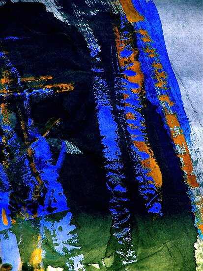 mountain.... blue tinge fall by banrai