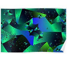 Iridescent Crystals Poster