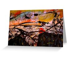 two forests... under a sunset sky Greeting Card