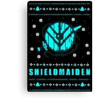 shieldmaiden for the holidays Canvas Print