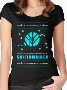 shieldmaiden for the holidays Women's Fitted Scoop T-Shirt