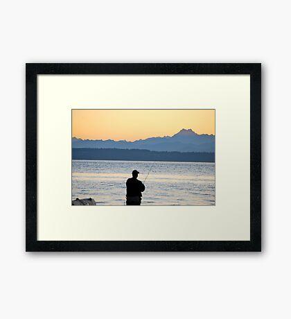 NW Fishing Framed Print