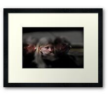 I saw your face in a crowded place... Framed Print