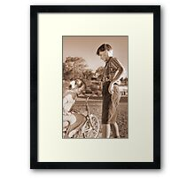Old Time Sweethearts Framed Print
